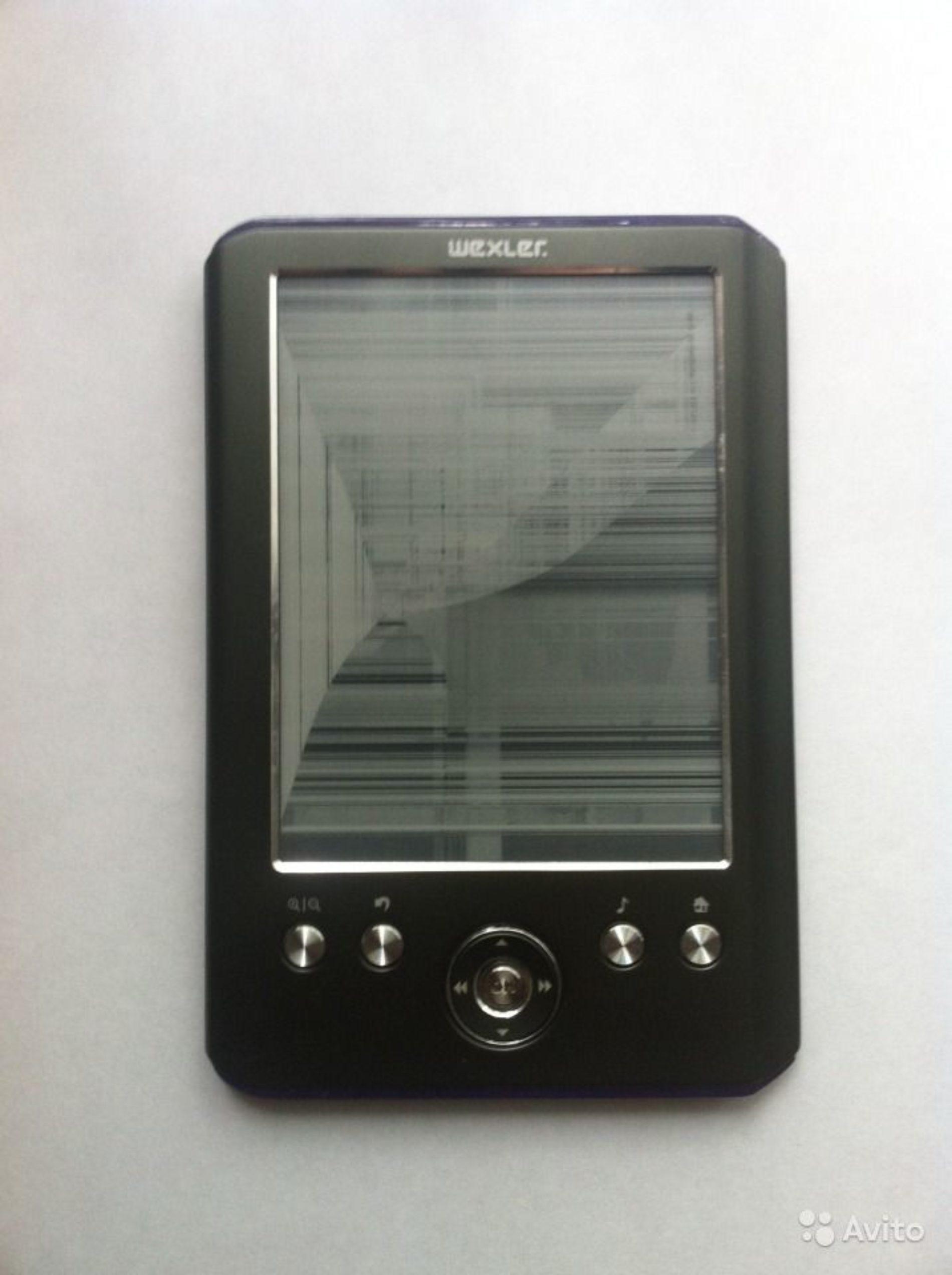 Замена экрана электронных книг Wexler