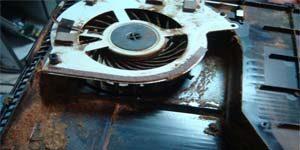 Ремонт Sony PlayStation 4 - чистка, забита пылью