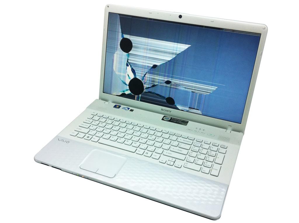 Пример разбитой матрицы ноутбука