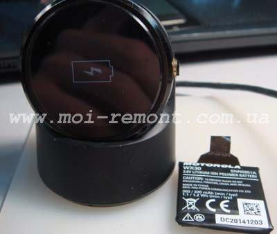 Замена аккумулятора Moto 360