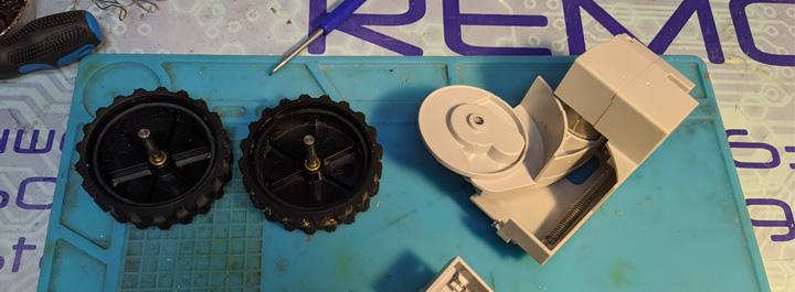 Чистка колеса Xiaomi Roborock